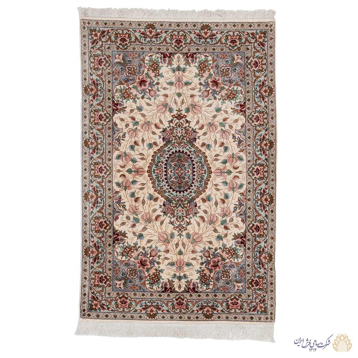 فرش دستباف یک متری تمام ابریشم اراک