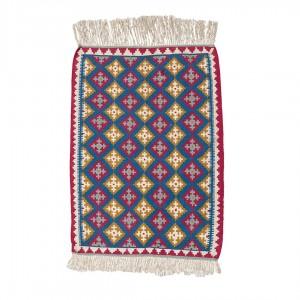 گلیم دستباف یک و نیم متری یاسوج واگیرهای لوزی