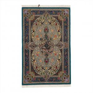 فرش دستباف سه متری کرک و ابریشم قم تلفیقی