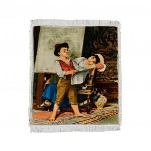 تابلو فرش دستباف تبریز طرح نقاشی اروپایی