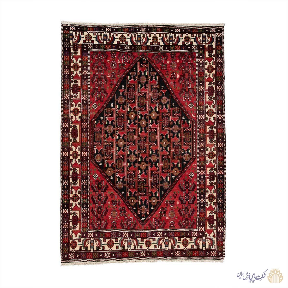 فرش دستباف شش متری شیراز دور لچک