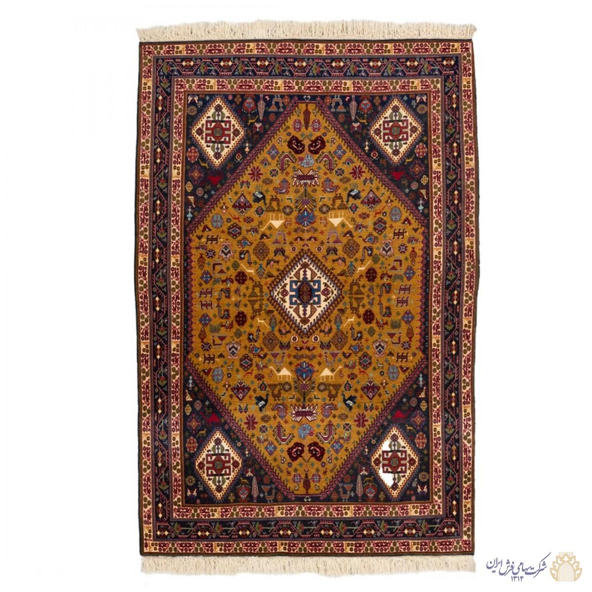 فرش دستباف دو و نیم متری قشقایی لچک ترنج