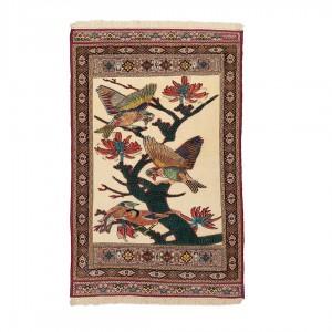 گلیم فرش دستباف سه متری سیرجان طرح گل و مرغ