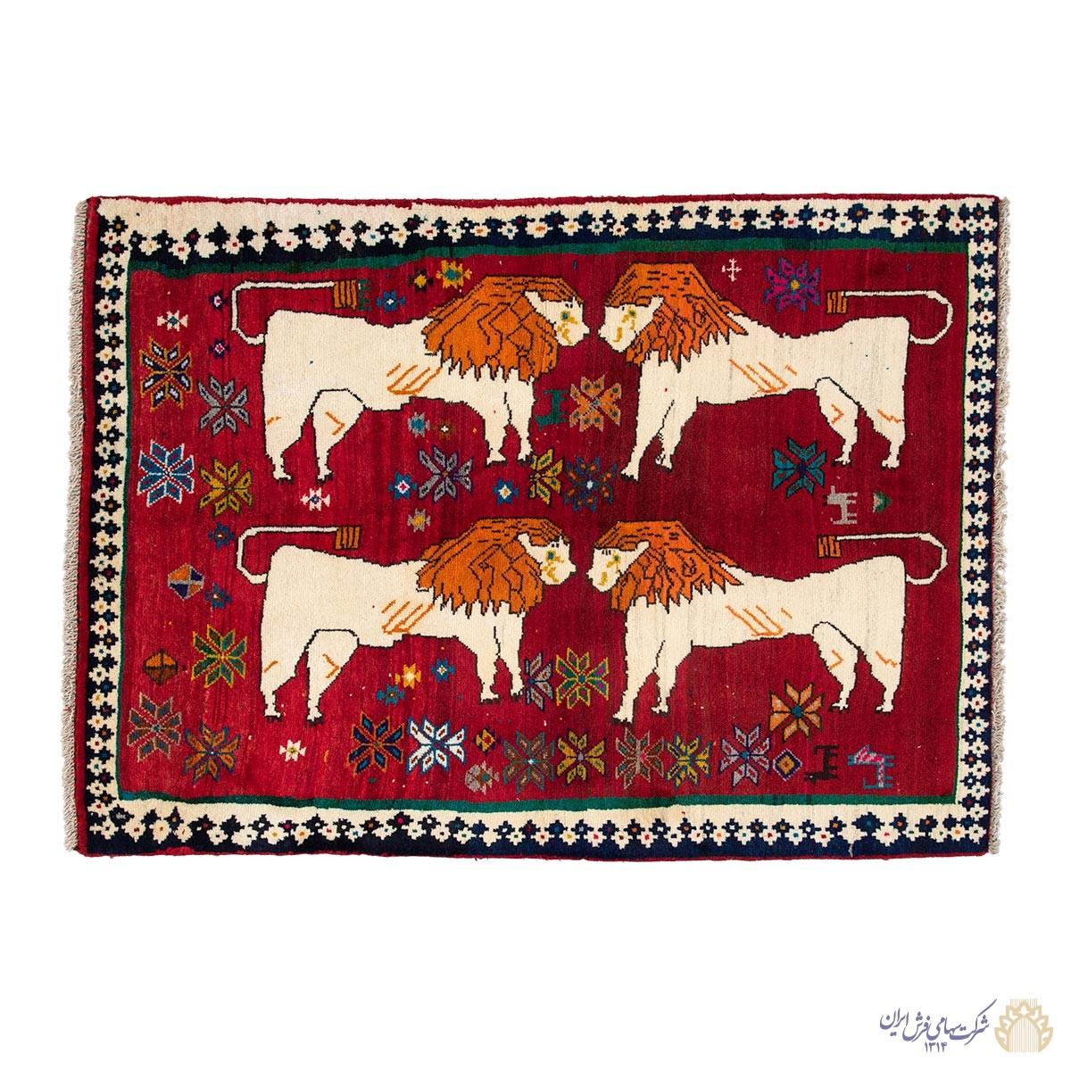 گبه دستباف دومتری شیراز حیواندار