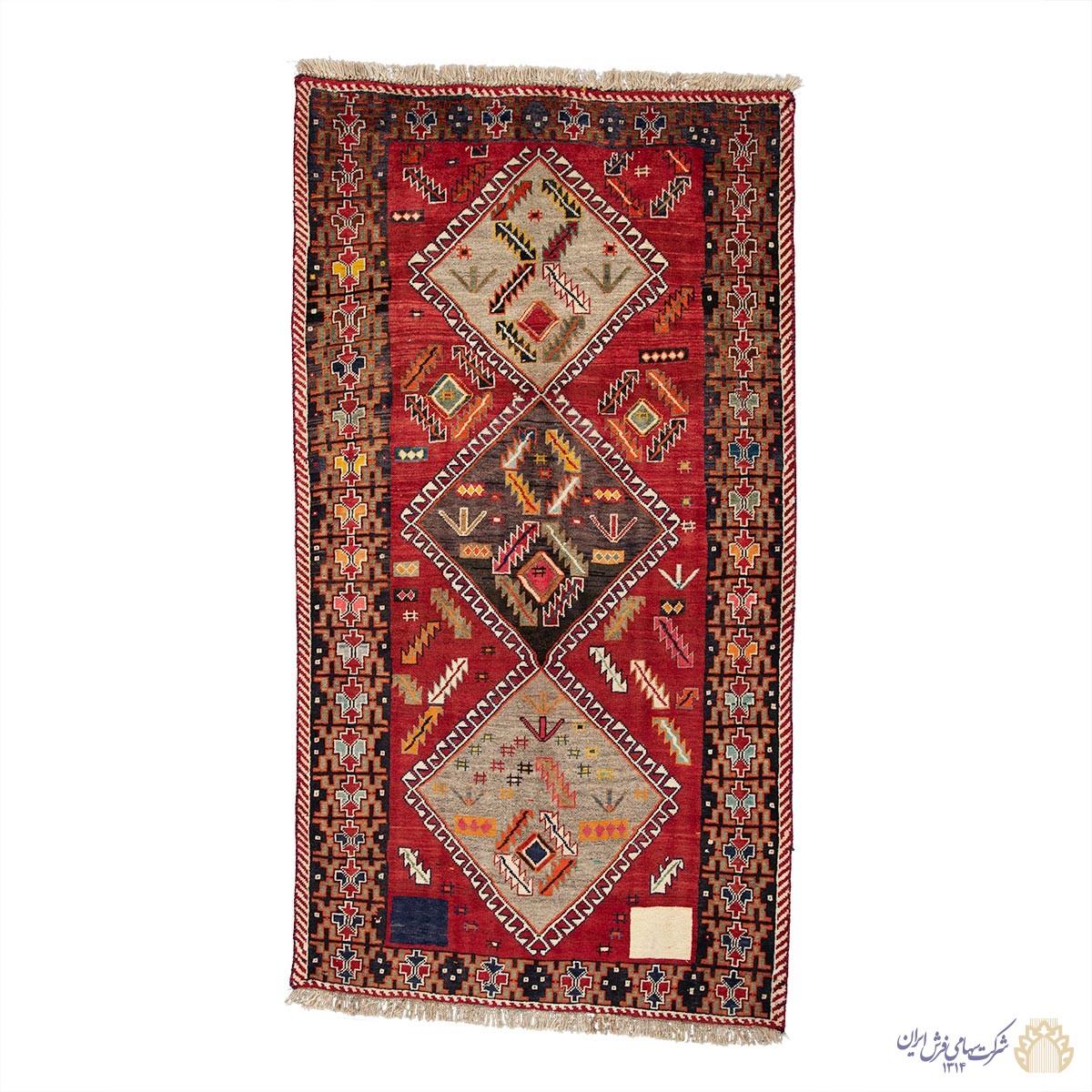 فرش دستباف سه متری شیراز سه ترنج